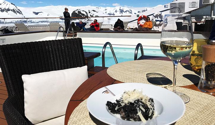 L'Austral Food on Balcony