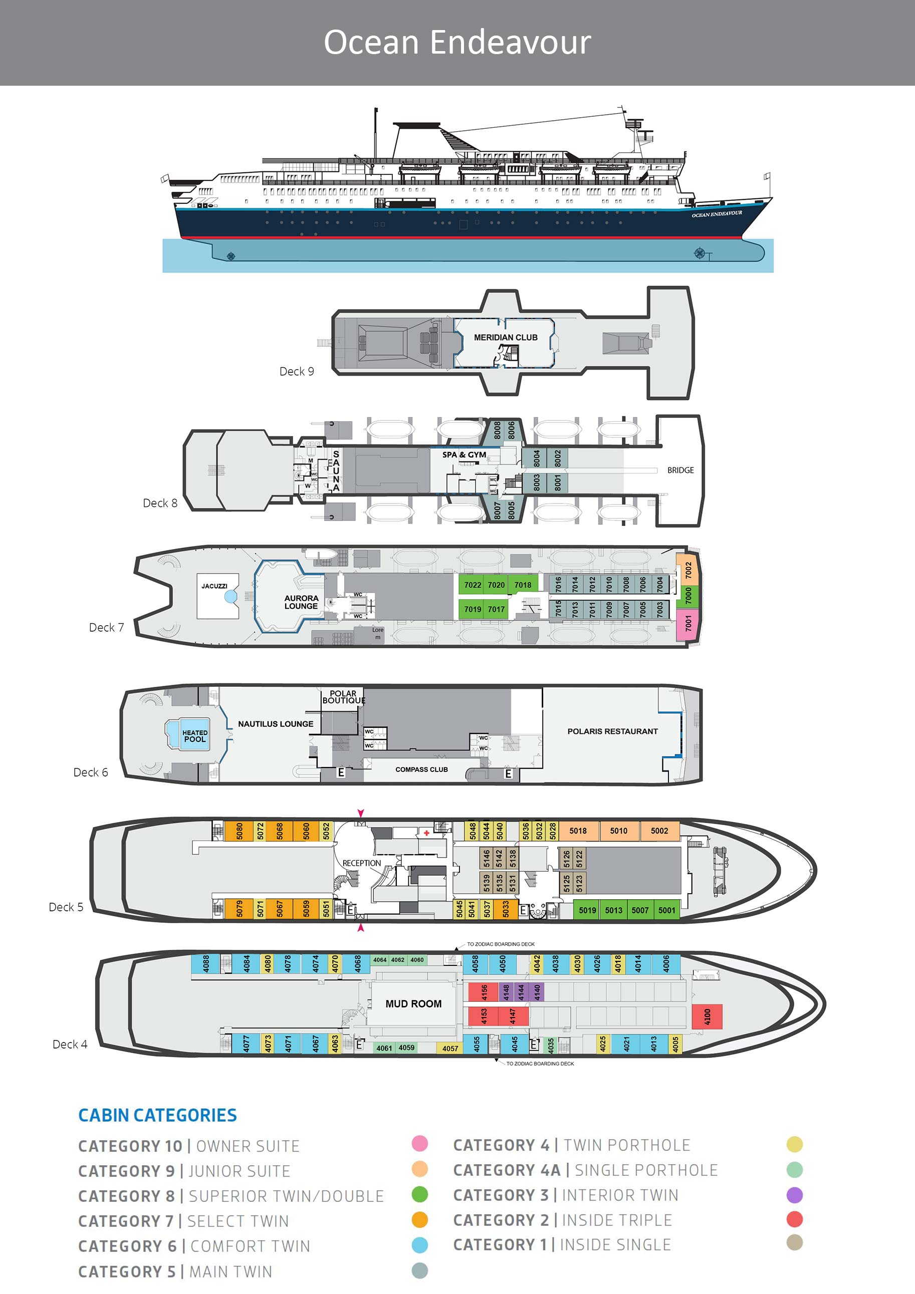 Ocean Endeavour Deck Plan Chimu