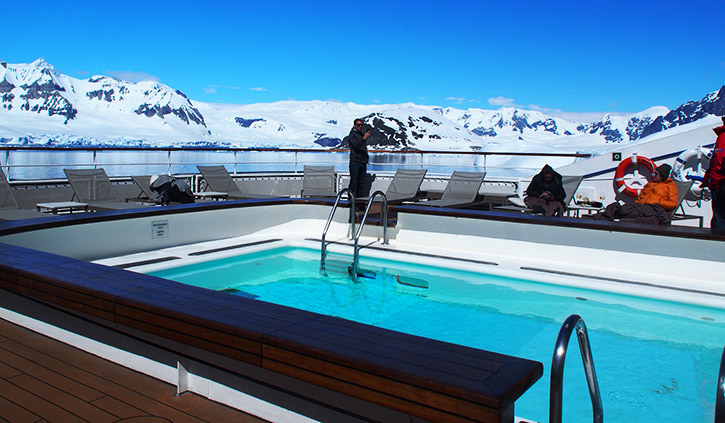 Pool with a View on board the L'Austral