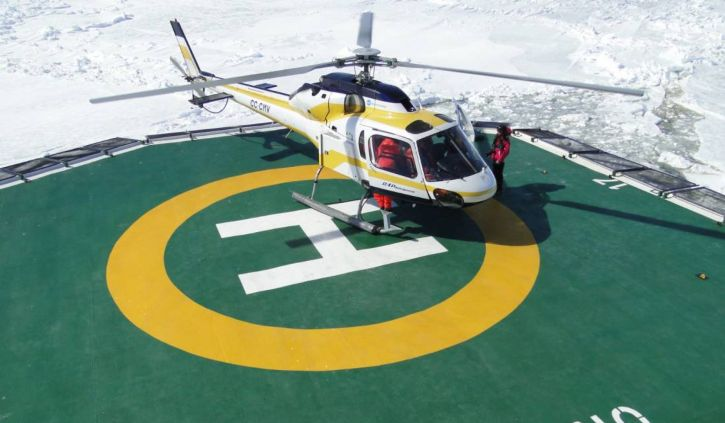 Helicopter, Ortelius, Oceanwide Expeditions
